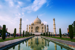 Perspektywiczny widok na Taj-Mahal mauzoleumu Zdjęcie Royalty Free