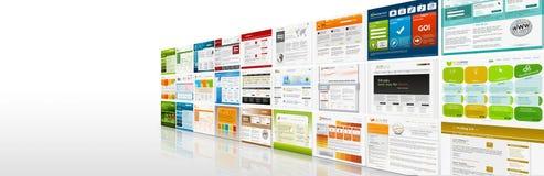 Perspektywiczny widok strona internetowa szablonów panorama - sztandar ilustracji