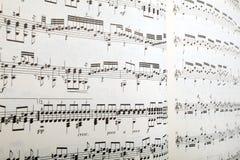 perspektywy muzyczny prześcieradło Obraz Stock