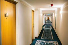 Perspetive of a hotel hall Royalty Free Stock Images