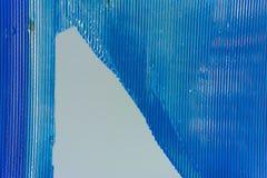 Perspex acrylique en plastique bleu brisé et cassé image libre de droits