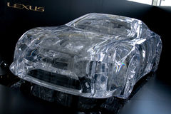 Perspex lexus lf-a car Royalty Free Stock Photo