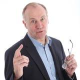 Persuasive businessman in discussion Stock Image