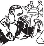 Persverslaggever On Phone stock illustratie