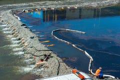 Perte d'huile de mécanisme des crédits pétroliers Images stock