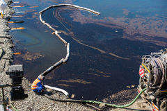 Perte d'huile de mécanisme des crédits pétroliers Image libre de droits