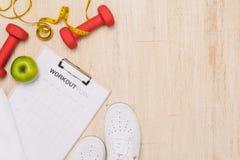 Perte de poids, fonctionnement, consommation saine, concept sain de mode de vie image stock