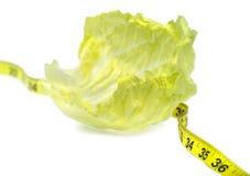 Perte de poids - laitue Image stock
