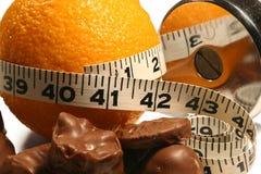 Perte de poids orange Photos libres de droits