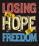 Perte de toute la liberté d'espoir, image de vecteur Image libre de droits