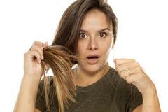 Perte des cheveux image stock