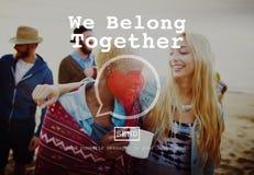 Pertenecemos juntos concepto de Valentine Romance Love Toast Dating Fotos de archivo libres de regalías