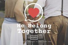 Pertenecemos juntos concepto de Valentine Romance Love Toast Dating imagen de archivo