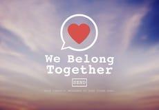 Pertenecemos juntos concepto de Valentine Romance Love Toast Dating imagenes de archivo