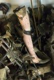 Pertenencia (prótesis) de la gente matada en Auschwitz Fotos de archivo libres de regalías