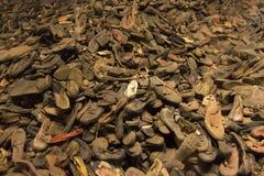 Pertenencia (zapatos) de la gente matada en Auschwitz Fotografía de archivo libre de regalías