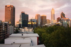 Perth über den Dachspitzen Lizenzfreie Stockfotografie