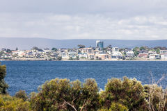Perth. View to the beach of the Swan River and Perth, Australia Stock Photos