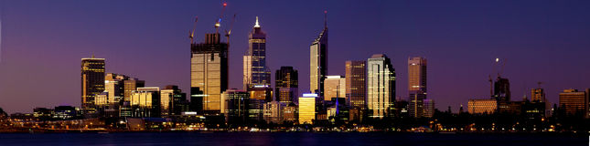 Perth alla notte Immagine Stock Libera da Diritti
