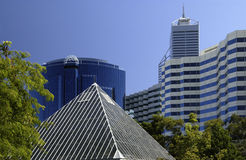 Perth - Austrailia. Modern office buildings in the downtown area of Perth in Australia Royalty Free Stock Photos
