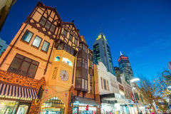 Hay Street, pedestrian shopping area in downtown Perth stock image