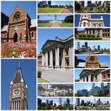 Perth, Australia. Photo collage from Perth, Australia. Collage includes major landmarks like the cathedral and city skyline Stock Photos