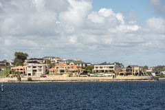Perth bay fremantle by the sea houses Royalty Free Stock Image