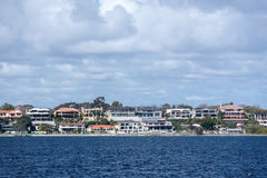 Perth bay fremantle by the sea houses Royalty Free Stock Images