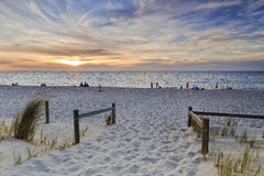 PERTH beach gate sunset Royalty Free Stock Photography