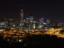 Perth bij Nacht Royalty-vrije Stock Foto's