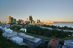 Perth view from Kings Park lookout. Western Australia. Australia. Perth is the capital and largest city of the Australian state of Western Australia stock images