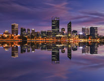 PERTH CBD 40 mm blue rise mirror Stock Image