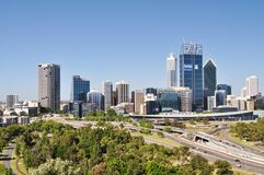 Perth CBD Skyline Stock Photography