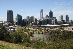 Perth City. The view of Perth City looking out from Kings Park Royalty Free Stock Photo