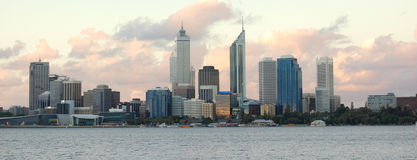 Perth city. Evening scene of perth city royalty free stock photo