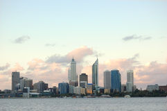 Perth city. Evening scene of perth city royalty free stock photography