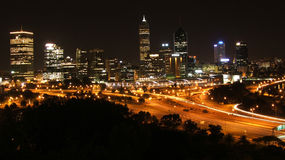 Perth City. Perth Skyline at night, Western Australia royalty free stock images