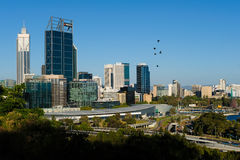Perth city in Australia. Skyline of Perth city in Western Australia Stock Photography