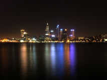 Perth City Night. Night Image of Perth City with Reflections on the Swan River stock images