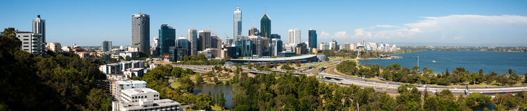 Perth city panorama Stock Photo