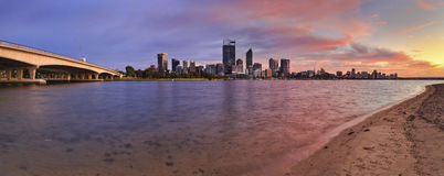 PERTH city river sand rise Stock Photography