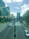Perth City road perspective Royalty Free Stock Photos