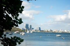 Perth city skyline Stock Photos