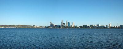 Perth City Skyline. Perth City as seen from the southern side Stock Photography