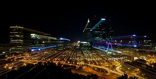 Perth City skyline at night Stock Photos