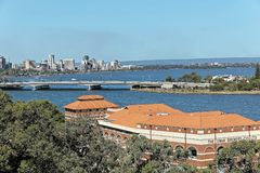 Perth city skyline taken from Kings Park, Perth, Australia Royalty Free Stock Photo