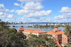 Perth City and Swan River Landscape Stock Photography