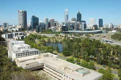 Perth city view. From King's Park on a clear summer day Royalty Free Stock Photos