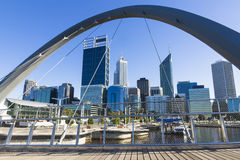 Perth city view. At Elizabeth quay, Western Australia Royalty Free Stock Images