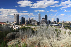 Perth city, Western Australia. Perth Skyline with Swan River ,view from  King's Park.Western Australia Stock Photos